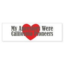California Ancestors Heart Bumper Sticker