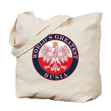 Round World's Greatest Busia Tote Bag