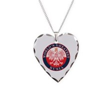 Round World's Greatest Busia Necklace Heart Charm