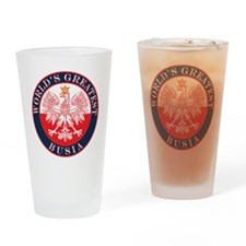 Round World's Greatest Busia Drinking Glass
