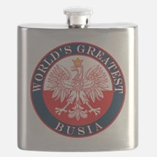 Round World's Greatest Busia Flask