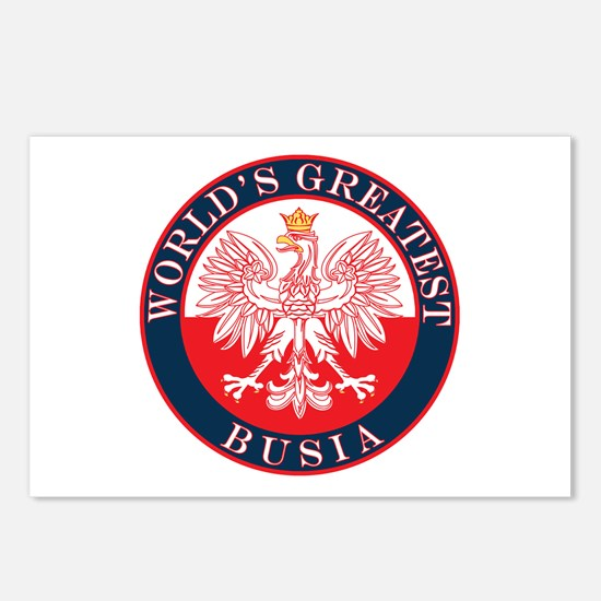 Round World's Greatest Busia Postcards (Package of
