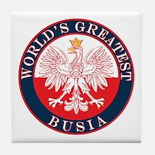Round World's Greatest Busia Tile Coaster