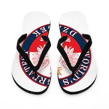 Round World's Greatest Dziadek Flip Flops