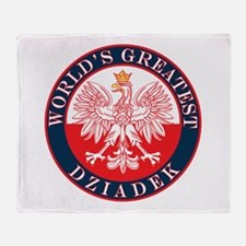 Round World's Greatest Dziadek Throw Blanket