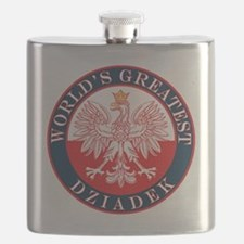 Round World's Greatest Dziadek Flask