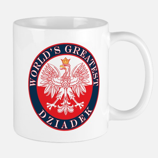 Round World's Greatest Dziadek Mug