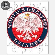 Round World's Greatest Dziadek Puzzle