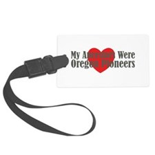 Oregon Ancestors Heart Luggage Tag