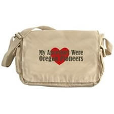 Oregon Ancestors Heart Messenger Bag