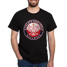 Round World's Greatest Dziadzia T-Shirt