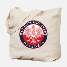 Round World's Greatest Dziadzia Tote Bag