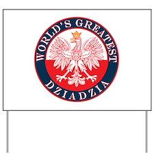 Round World's Greatest Dziadzia Yard Sign