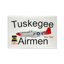 Tuskegee P-51 Mustang Rectangle Magnet