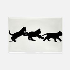 lion cub shapes Rectangle Magnet (10 pack)