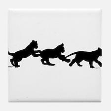 lion cub shapes Tile Coaster