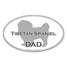 Tibetan Spaniel DAD Oval Decal