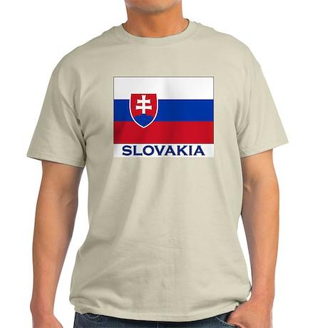 Flag of Slovakia Ash Grey T-Shirt