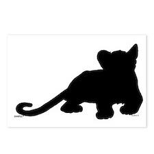 Lion cub shape Postcards (Package of 8)