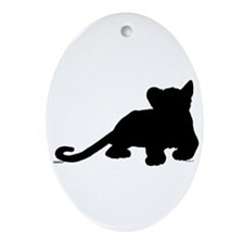 Lion cub shape Ornament (Oval)