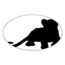 Lion cub shape Decal