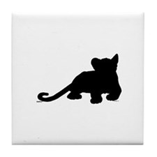 Lion cub shape Tile Coaster