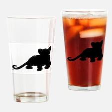 Lion cub shape Drinking Glass
