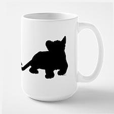 Lion cub shape Large Mug