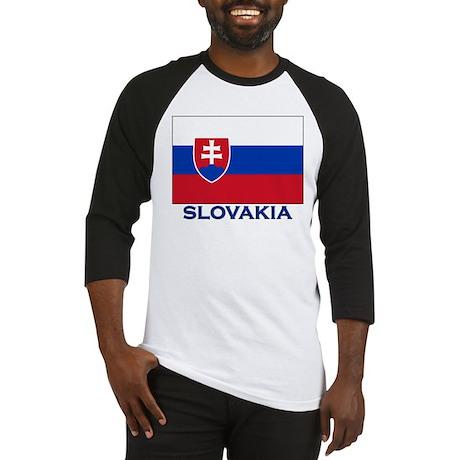 Flag of Slovakia Baseball Jersey