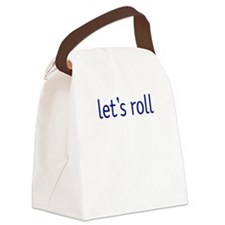 runner lets roll.png Canvas Lunch Bag