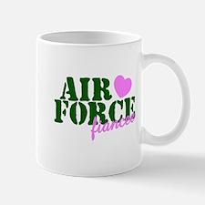 Air Force Fiancee Pink Hearts Mug