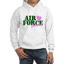 Air Force Fiancee Pink Hearts Hoodie