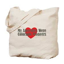 Colorado Ancestors Heart Tote Bag