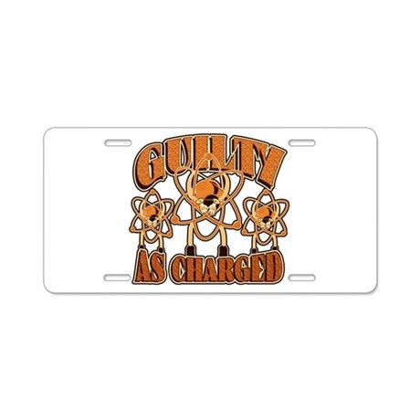 Guilty As Charged Aluminum License Plate