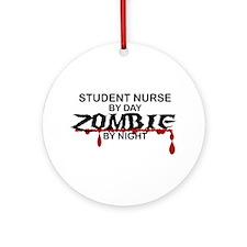 Student Nurse Zombie Ornament (Round)