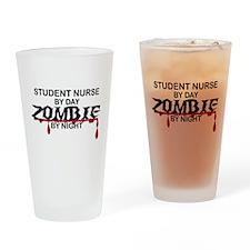 Student Nurse Zombie Drinking Glass