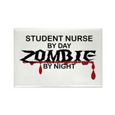 Student Nurse Zombie Rectangle Magnet