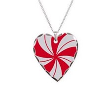 Peppermint Candy Necklace Heart Charm