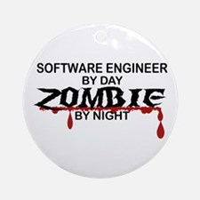 Software Engineer Zombie Ornament (Round)