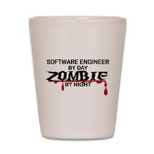 Software Engineer Zombie Shot Glass