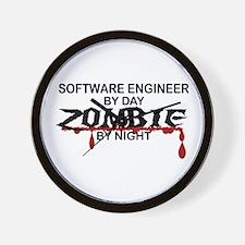 Software Engineer Zombie Wall Clock