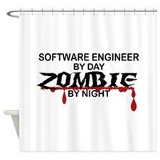 Software Engineer Zombie Shower Curtain