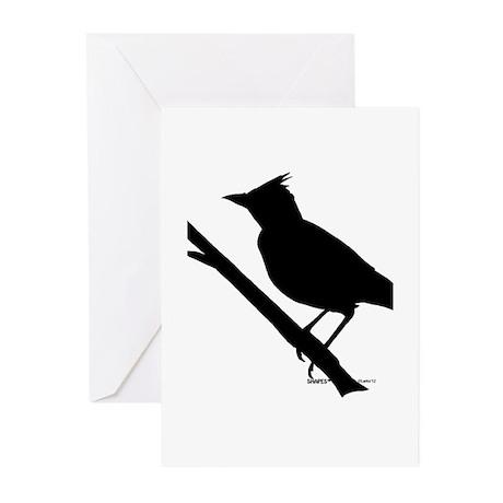 Lark bird Shape Greeting Cards (Pk of 10)