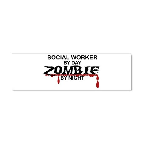 Social Worker Zombie Car Magnet 10 x 3