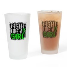 Licensed Fight Like a Girl 31.8 Lym Drinking Glass