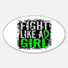 Licensed Fight Like a Girl 31.8 Lym Sticker (Oval)