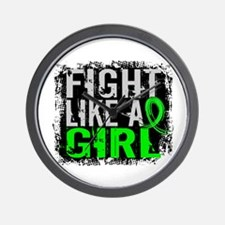 Licensed Fight Like a Girl 31.8 Lymphom Wall Clock
