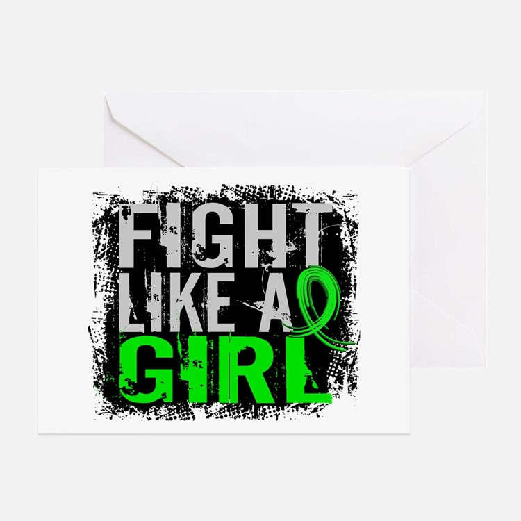 Licensed Fight Like a Girl 31.8 Lymp Greeting Card