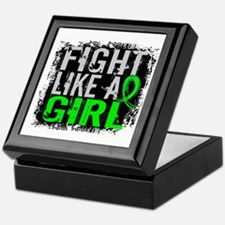 Licensed Fight Like a Girl 31.8 Lymph Keepsake Box