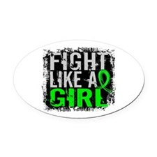 Licensed Fight Like a Girl 31.8 Ly Oval Car Magnet